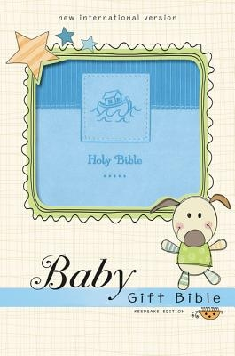 Niv, Baby Gift Bible, Holy Bible, Leathersoft, Blue, Red Letter, Comfort Print