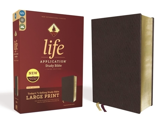 Niv, Life Application Study Bible, Third Edition, Large Print, Bonded Leather, Burgundy, Red Letter Edition