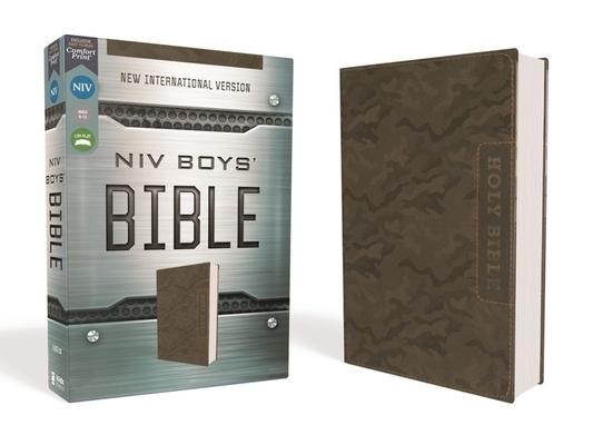 Niv, Boys' Bible, Leathersoft, Brown Camo, Comfort Print