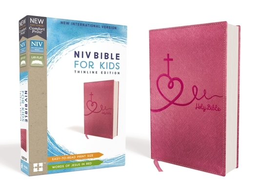 Niv, Bible for Kids, Leathersoft, Pink, Red Letter, Comfort Print