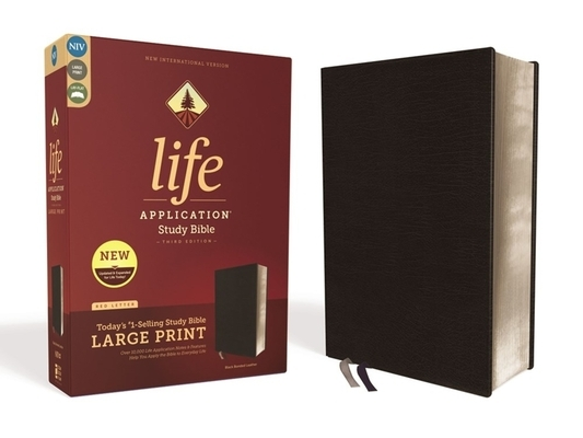 Niv, Life Application Study Bible, Third Edition, Large Print, Bonded Leather, Black, Red Letter Edition