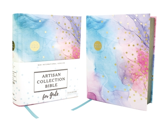 Niv, Artisan Collection Bible for Girls, Cloth Over Board, Multi-Color, Art Gilded Edges, Red Letter Edition, Comfort Print