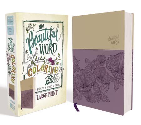 NIV, Beautiful Word Coloring Bible, Large Print, Imitation Leather, Purple/Tan