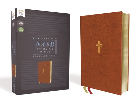 Nasb, Thinline Bible, Leathersoft, Brown, Red Letter Edition, 1995 Text, Comfort Print