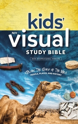 Niv, Kids' Visual Study Bible, Hardcover, Blue, Full Color Interior