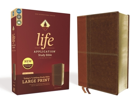 Niv, Life Application Study Bible, Third Edition, Large Print, Leathersoft, Brown, Red Letter Edition