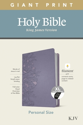 KJV Personal Size Giant Print Bible, Filament Enabled Edition (Leatherlike, Peony Lavender, Indexed)