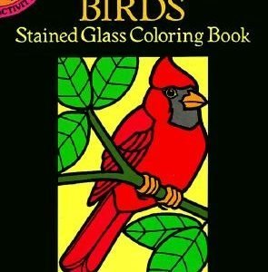 Little Birds Stained Glass Coloring Book