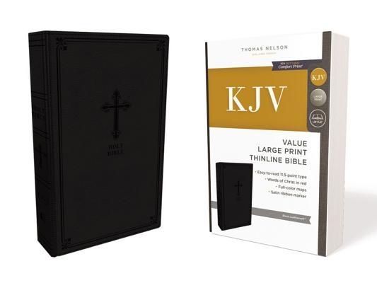 Kjv, Value Thinline Bible, Large Print, Leathersoft, Black, Red Letter Edition, Comfort Print