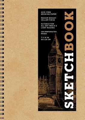 Sketchbook (Basic Medium Spiral Kraft), Volume 16