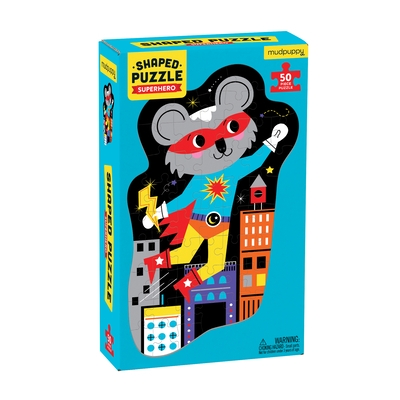 Superhero 50 Piece Shaped Character Puzzle