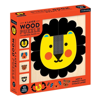 Animal Faces 4 Layer Wood Puzzle