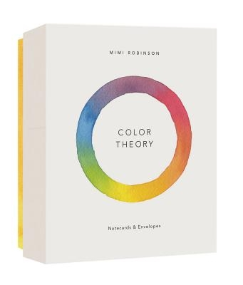 Color Theory Notecards (12 Notecards 6 Designs, 12 Envelopes in a Keepsake Box)