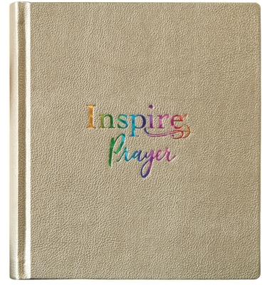 Inspire Prayer Bible NLT (Hardcover Leatherlike, Metallic Gold)