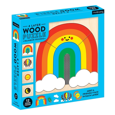 Rainbow Friends 4 Layer Wood Puzzle