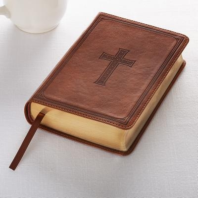 KJV Compact Large Print Lux-Leather Tan
