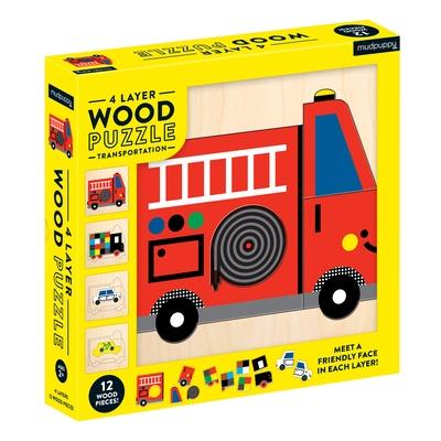 Transportation 4 Layer Wood Puzzle