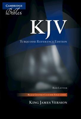 KJV Turquoise Reference Bible, Black Goatskin Leather, Red-Letter Text, Kj676