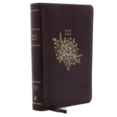 KJV, Deluxe Reference Bible, Personal Size Giant Print, Imitation Leather, Burgundy, Indexed, Red Letter Edition