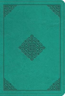 ESV Value Large Print Compact Bible (Trutone, Teal, Ornament Design)