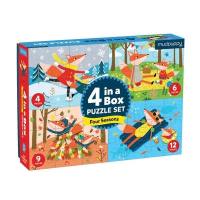 Four Seasons 4-In-A-Box Puzzle Set