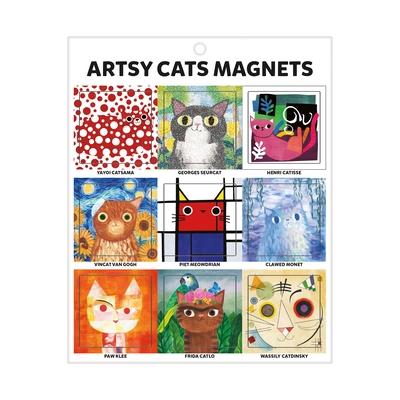 Magnets Artsy Cats