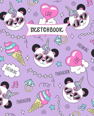 Sketchbook: Panda Unicorn Sketch Book for Kids - Practice Drawing and Doodling - Sketching Book for Toddlers & Tweens