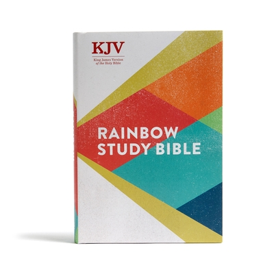 KJV Rainbow Study Bible, Hardcover: Ribbon Marker, Color-Coded Text, Smythe Sewn Binding, Easy to Read Bible Font, Bible Study Helps, Full-Color Maps