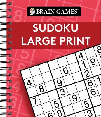 Brain Games - Sudoku Large Print (Red)