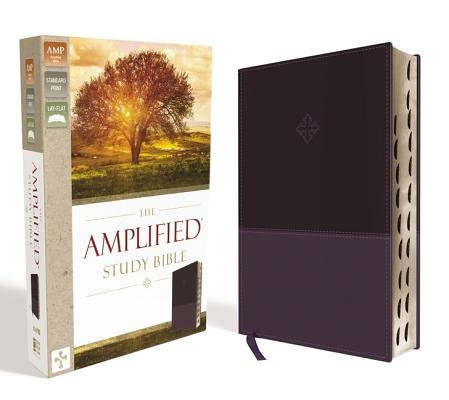 Amplified Study Bible, Imitation Leather, Purple, Indexed