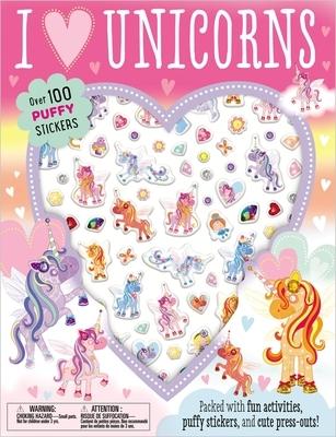 Puffy Stickers I Love Unicorns