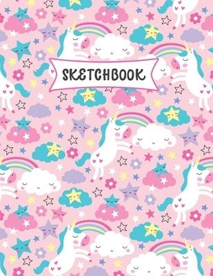 Sketchbook: Cute Kawaii Unicorn Sketch Book for Kids - Practice Drawing and Doodling - Sketching Book for Toddlers & Tweens