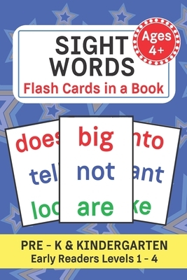 Sight Words: Flash Cards in a Book Pre - K and Kindergarten Common Words for Early Learning