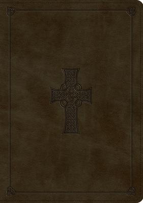 ESV Study Bible (Trutone, Olive, Celtic Cross Design, Indexed)