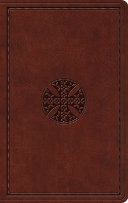 ESV Value Thinline Bible (Trutone, Brown, Mosaic Cross Design)