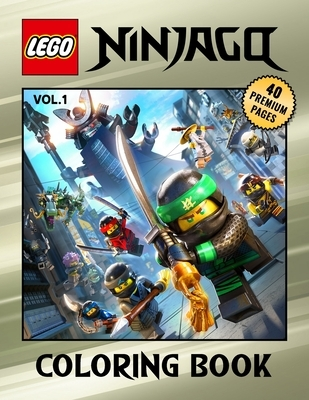"""Lego Ninjago Coloring Book Vol1: Interesting Coloring Book With 40 Images For Kids of all ages with your Favorite """"Lego Ninjago"""" Characters."""