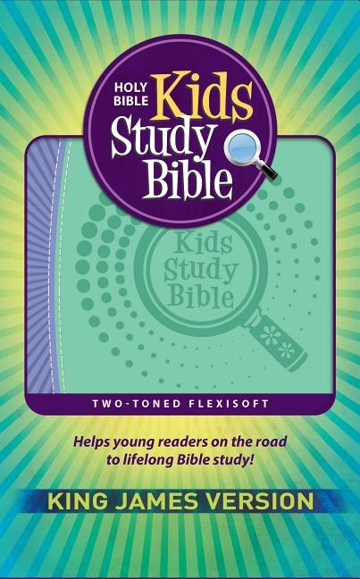 KJV Kids Study Bible Flex Purple Green
