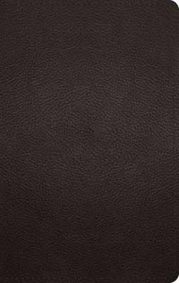 ESV Large Print Personal Size Bible (Buffalo Leather, Deep Brown)