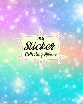 My Sticker Collecting Album: Turquoise Mermaid Scales Softcover Blank Sticker Album, Sticker Album For Collecting Stickers For Adults, Blank Sticke