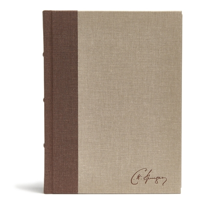 CSB Spurgeon Study Bible, Brown/Tan Cloth Over Board: Study Notes, Quotes, Sermons Outlines, Easy-To-Read Font
