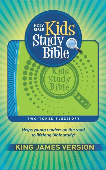 KJV Kids Study Bible Flex Green/Blue Imprintable (Genuine Leather)