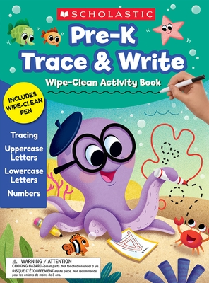 Pre-K Trace & Write Wipe-Clean Activity Book