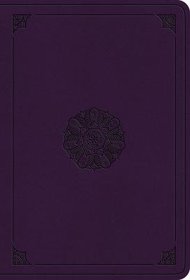 ESV Value Large Print Compact Bible (Trutone, Lavender, Emblem Design)