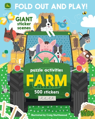 Farm: 500 Stickers and Puzzle Activities: Fold Out and Play!